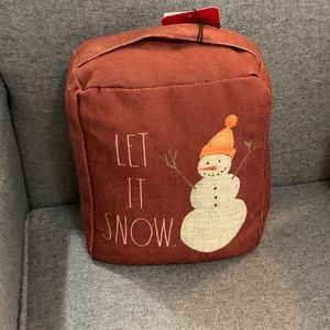 "Rae Dunn Holiday Bag ""LET IT SNOW"""